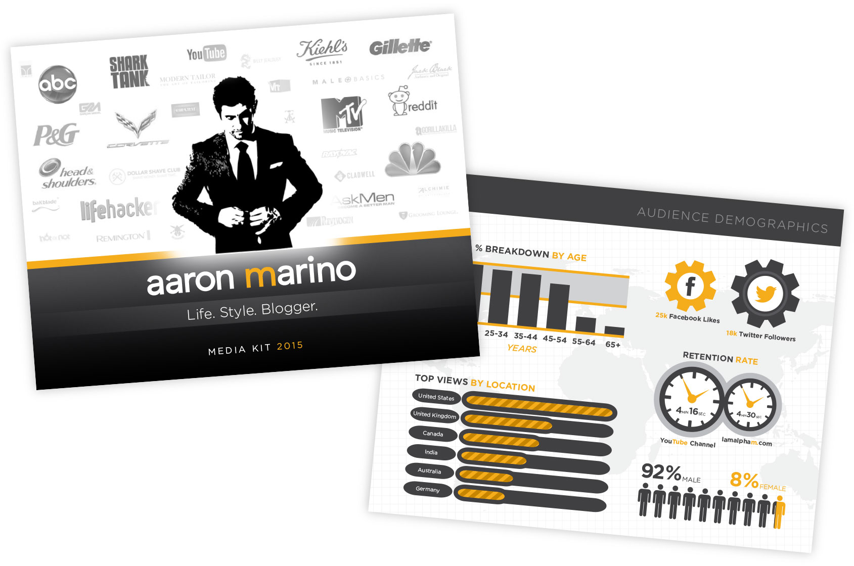 Aaron Marino media kit design