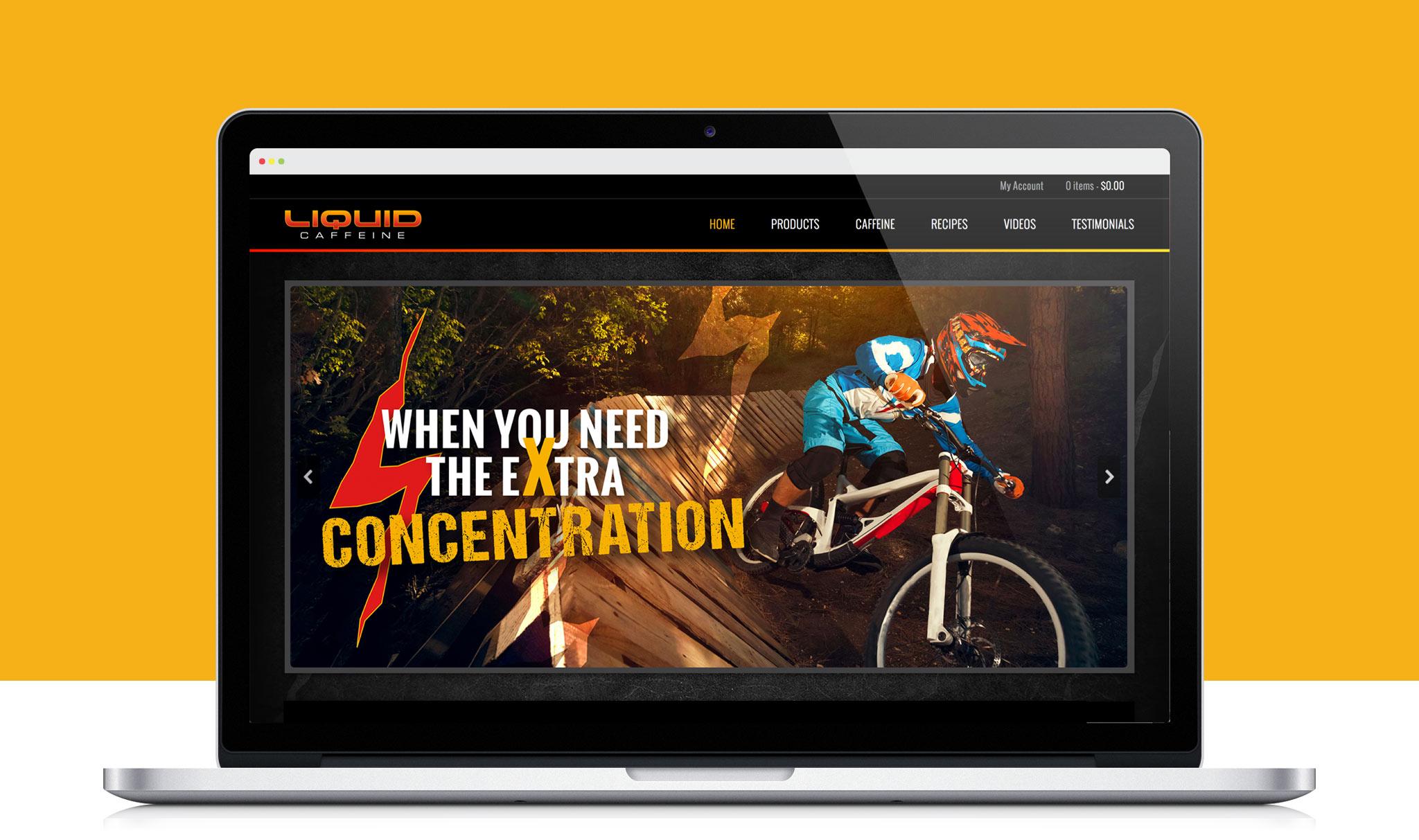Liquid Caffeine website screenshot