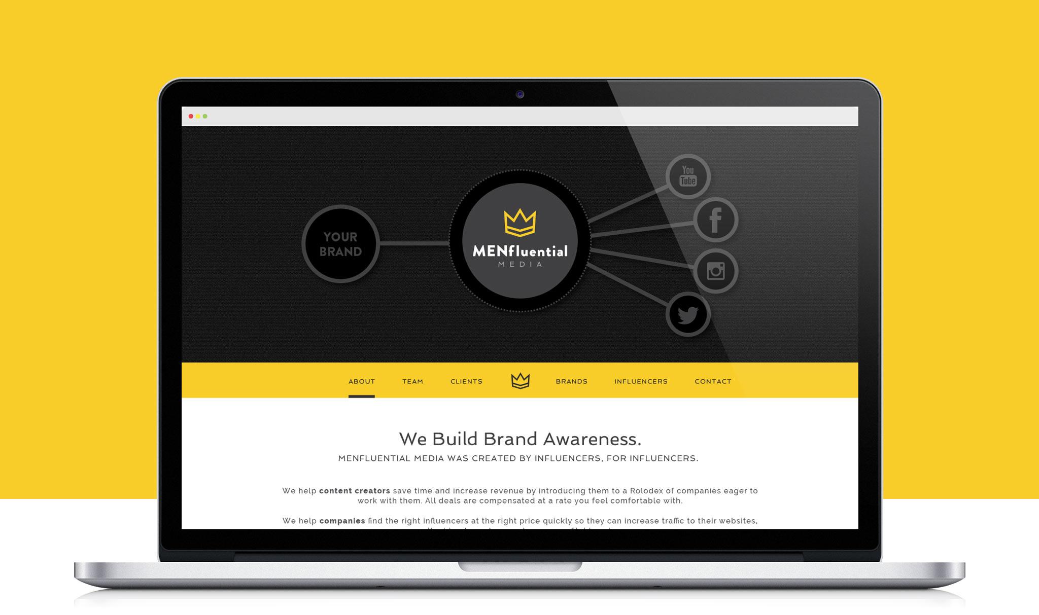 MENfluential website screenshot